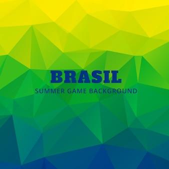 Drapeau brésil couleurs triangle fond