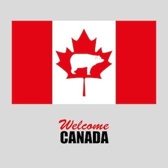 Drapeau canadien célébration jour vector illustration design