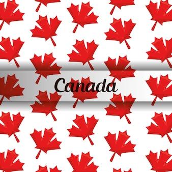 Drapeau canadien feuille d'érable