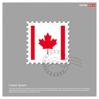 Drapeau canadien stamp template