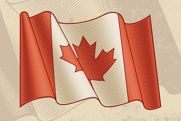 Drapeau canadien vintage