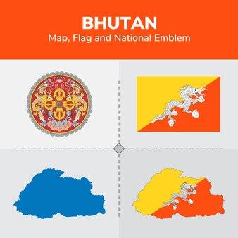 Bhoutan Pays Carte De Forme Noir   Icons Gratuite