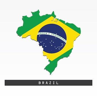 Drapeau sur la carte du brésil