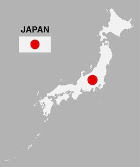 Drapeau de la carte du japon