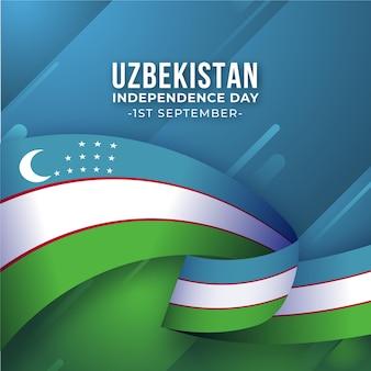 Drapeau cireux de la fête de l'indépendance de l'ouzbékistan