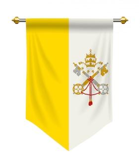 Le drapeau de la cité du vatican