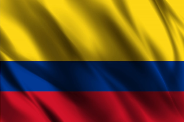 Drapeau colombie agitant abstrait