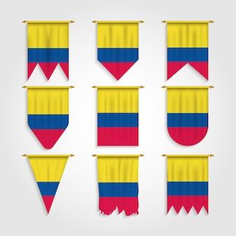 Drapeau colombie sous diverses formes