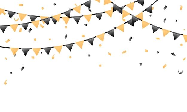 Drapeau de confettis et fanion pour la célébration