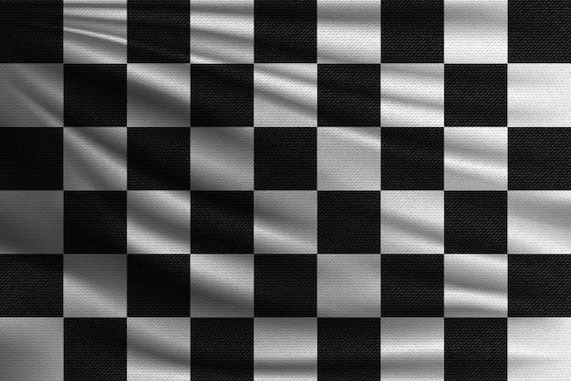 Drapeau de course noir et blanc.