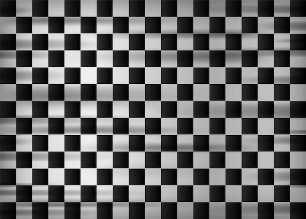 Drapeau de départ et d'arrivée drapeau réaliste. illustration vectorielle.
