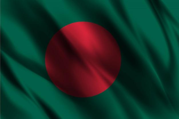 Drapeau du bangladesh flottant sur fond de soie