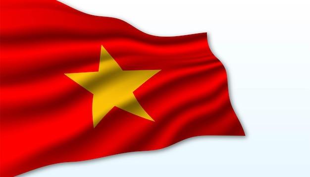 Drapeau du fond du vietnam.