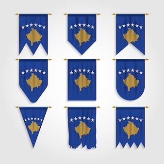 Drapeau du kosovo sous différentes formes
