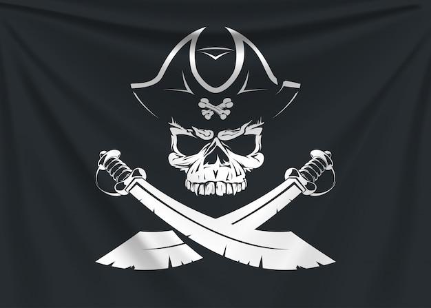 Drapeau du logo pirate
