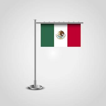 Drapeau du mexique avec le vecteur de design créatif