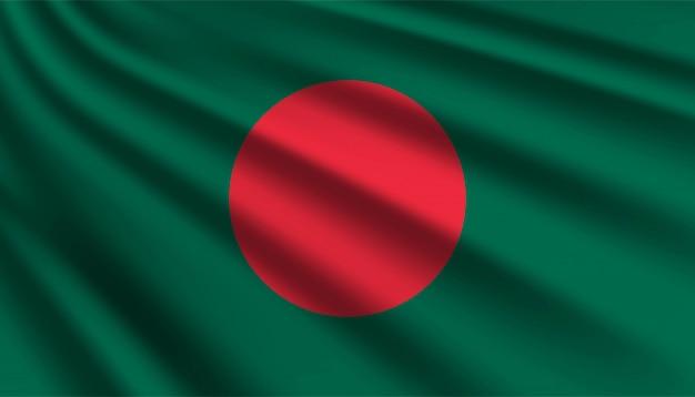 Drapeau du modèle de fond du bangladesh.