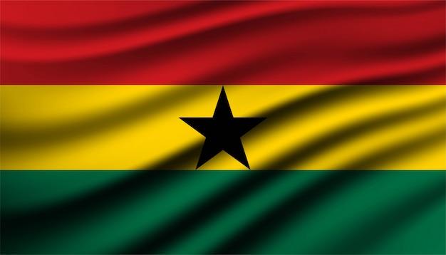 Drapeau du modèle de fond du ghana.