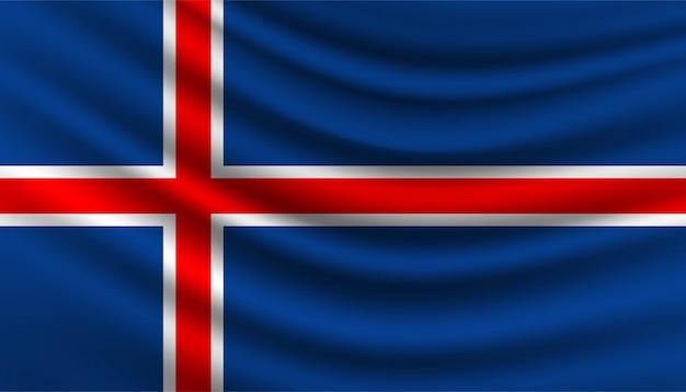 Drapeau du modèle de fond de l'islande.