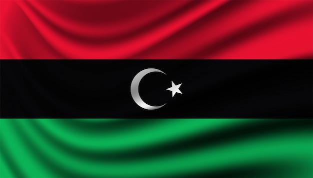 Drapeau du modèle de fond de la libye.