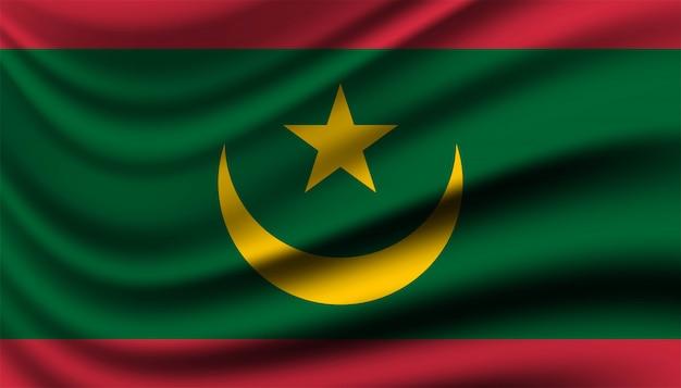 Drapeau du modèle de fond de la mauritanie.