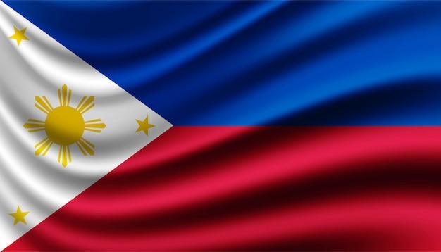 Drapeau du modèle de fond philippin.