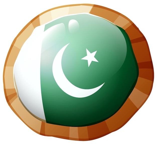 Drapeau du pakistan sur cadre rond
