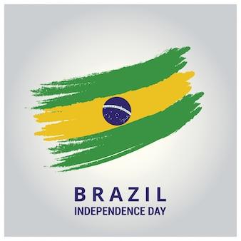 Drapeau du pays du Brésil dans un accident vasculaire cérébral Contexte abstrait