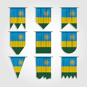 Drapeau du rwanda sous différentes formes, drapeau du rwanda sous diverses formes