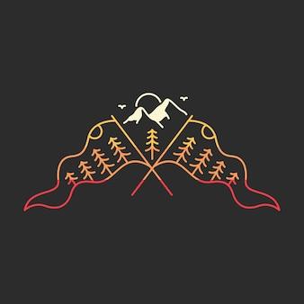 Drapeau du sommet de la montagne