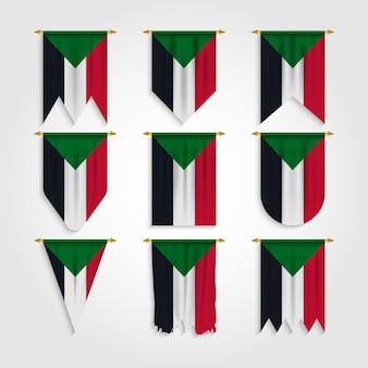 Drapeau du soudan sous différentes formes, drapeau du soudan sous diverses formes