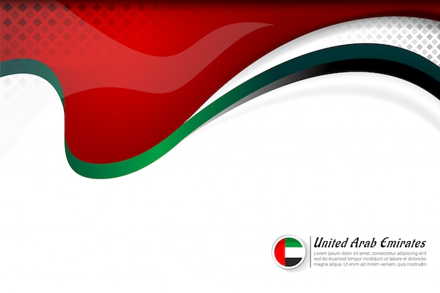 Drapeau des émirats arabes unis couleur concept fond