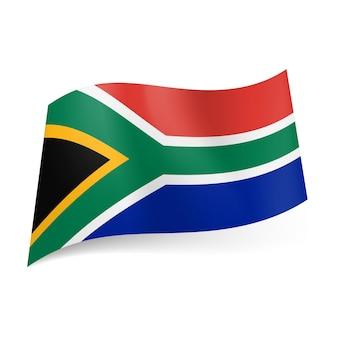 Drapeau d'état de l'afrique du sud.