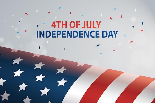 Drapeau des états-unis célébration de la fête de l'indépendance américaine, carte du 4 juillet