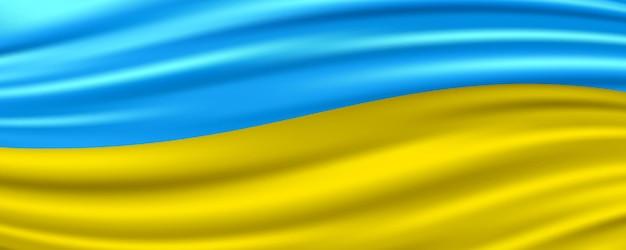 Drapeau fluide réaliste de l'ukraine.
