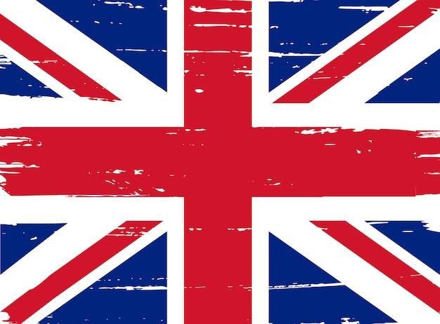 Drapeau grunge britannique
