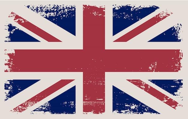 Drapeau de grunge du royaume-uni