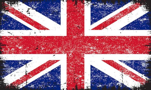 Drapeau grunge du royaume-uni