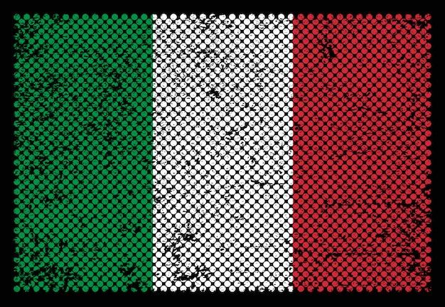 Drapeau grunge italie
