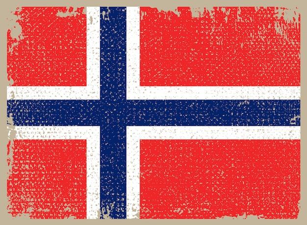 Drapeau grunge de norvège