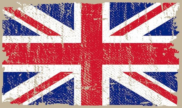 Drapeau grunge, royaume uni