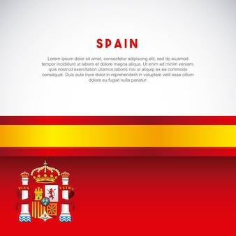 Drapeau icône classique de la culture espagnole