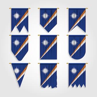 Drapeau des îles marshall dans différentes formes, drapeau des îles marshall dans diverses formes