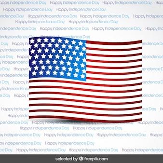 Drapeau sur l'indépendance jour fond