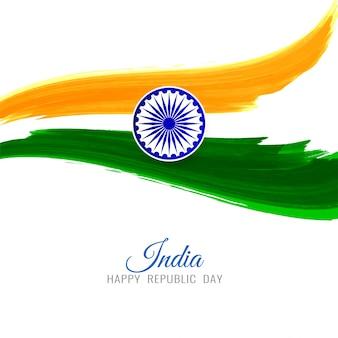 Drapeau indien abstrait thème fond tricolore