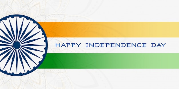 Drapeau indien avec le jour de l'indépendance de l'ashoka chakra