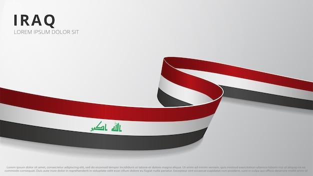 Drapeau de l'irak. ruban ondulé réaliste aux couleurs du drapeau irakien. modèle de conception graphique et web. symbole national. affiche de la fête de l'indépendance. abstrait. illustration vectorielle.