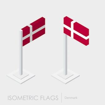 Drapeau isométrique danemark