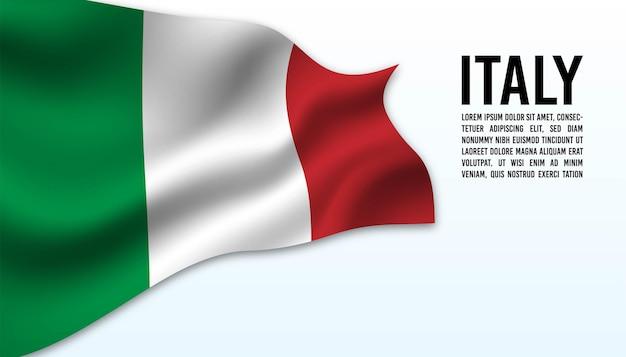 Drapeau de l'italie en arrière-plan.