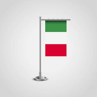Drapeau d'italie avec le vecteur de design créatif